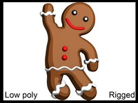 Gingerbread Man Rigged